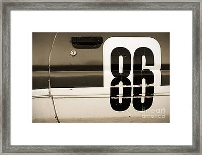 Old Racecar Number Framed Print