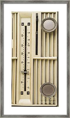 Old Radio Phone Case Framed Print