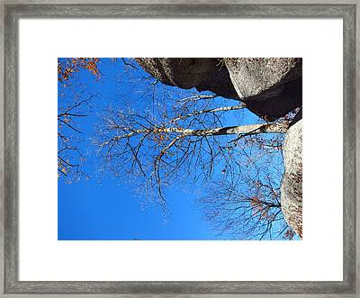Old Rag Hiking Trail - 121211 Framed Print by DC Photographer