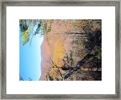 Old Rag Hiking Trail - 121215 Framed Print by DC Photographer