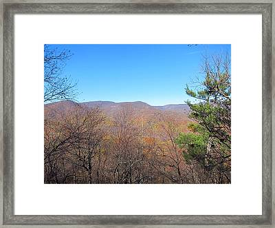 Old Rag Hiking Trail - 121219 Framed Print by DC Photographer