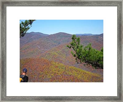 Old Rag Hiking Trail - 121222 Framed Print by DC Photographer
