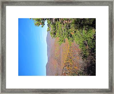 Old Rag Hiking Trail - 121224 Framed Print by DC Photographer