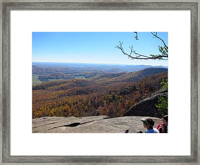 Old Rag Hiking Trail - 121228 Framed Print by DC Photographer