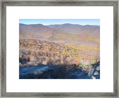 Old Rag Hiking Trail - 121231 Framed Print by DC Photographer