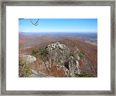 Old Rag Hiking Trail - 121233 Framed Print by DC Photographer