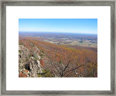 Old Rag Hiking Trail - 121234 Framed Print by DC Photographer