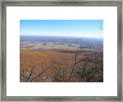 Old Rag Hiking Trail - 121235 Framed Print