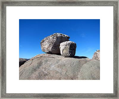 Old Rag Hiking Trail - 121239 Framed Print by DC Photographer