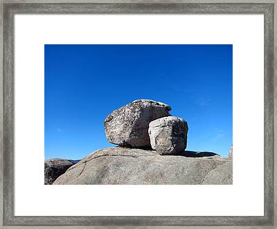 Old Rag Hiking Trail - 121240 Framed Print by DC Photographer