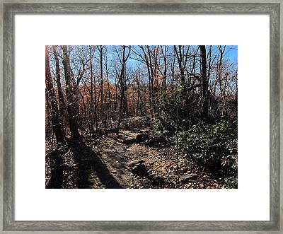Old Rag Hiking Trail - 121248 Framed Print by DC Photographer