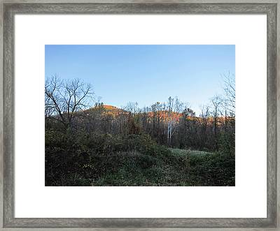 Old Rag Hiking Trail - 121267 Framed Print by DC Photographer