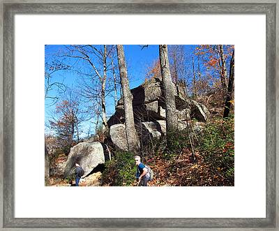 Old Rag Hiking Trail - 12129 Framed Print by DC Photographer