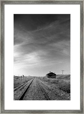 Old Railroad Station Framed Print by Donald  Erickson