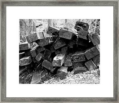 Framed Print featuring the photograph Old Railroad Ties by Kristen Fox
