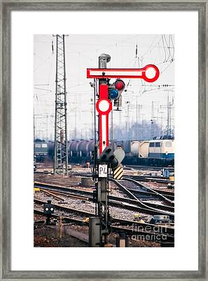 Old Railway Semaphore Framed Print