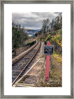 Old Railway Sign Framed Print by Adrian Evans
