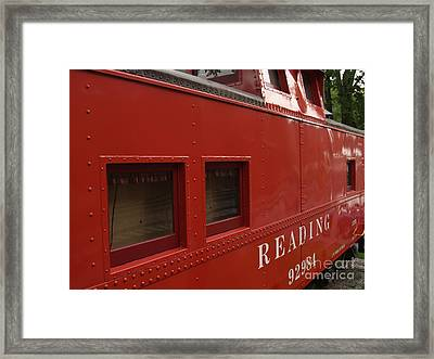 Old Reading Rr Caboose In Lititz Pa Framed Print by Anna Lisa Yoder