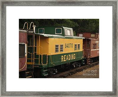 Old Reading Rr Car - Jim Thorpe Pa Framed Print by Anna Lisa Yoder