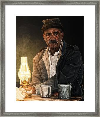 Old Rebel Framed Print by Ron  McGinnis