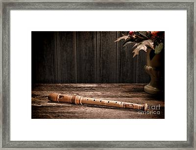 Old Recorder Framed Print by Olivier Le Queinec