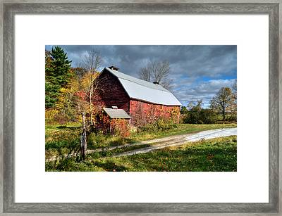 Old Red Barn - Berkshire County Framed Print