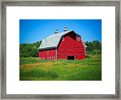 Old Red Barn Framed Print