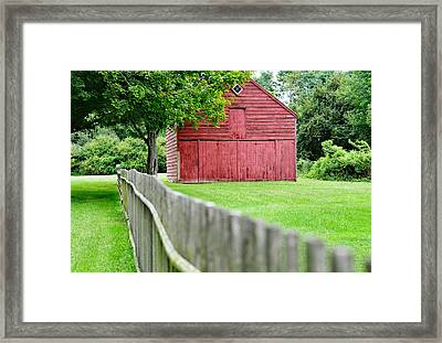 Old Red Barn Il Framed Print by Laura Fasulo
