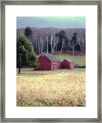Framed Print featuring the photograph Old Red Barn by John Scates