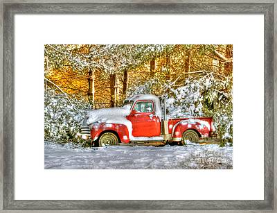 Old Red Framed Print by Benanne Stiens