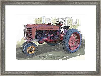 Old Red Farmall Tractor Framed Print by RG McMahon