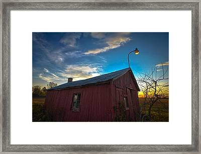 Framed Print featuring the photograph Old Red by Jason Naudi Photography