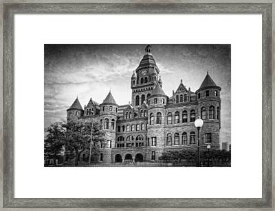 Old Red Monochrome Framed Print by Joan Carroll
