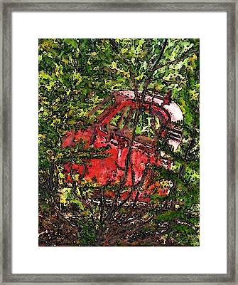Old Red Truck Framed Print