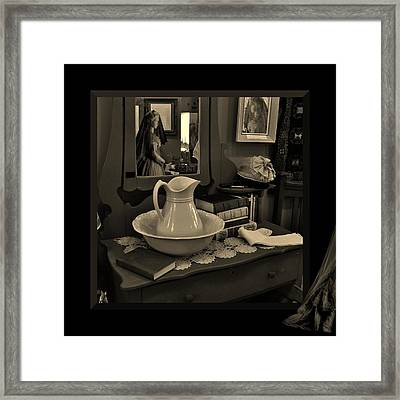 Old Reflections Framed Print by Barbara St Jean