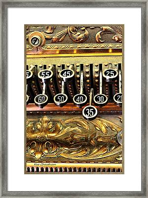 Old Register Keys Framed Print by Kae Cheatham