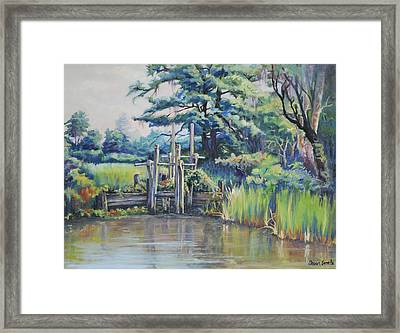 Old Rice Field Trunk Framed Print