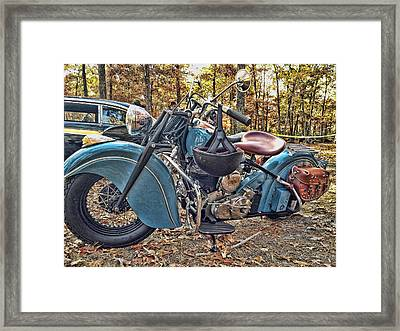 Pale Blue Rider Framed Print