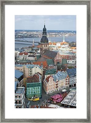 Old Riga City Roofs Framed Print