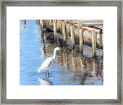 Old River Wharf In Matagorda Framed Print