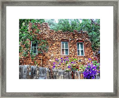 Framed Print featuring the photograph Old Rock House In Williams Canyon by Lanita Williams
