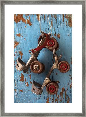 Old Roller Skates Framed Print by Garry Gay
