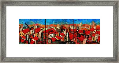Old Roofs Of Lyon Framed Print by Mona Edulesco