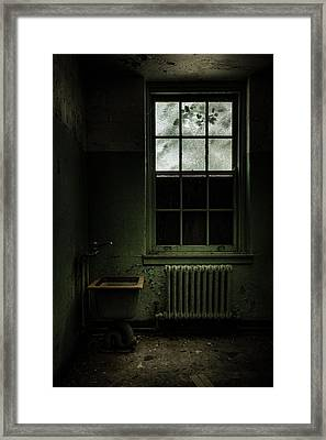 Old Room - Abandoned Asylum - The Presence Outside Framed Print