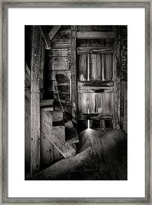 Old Room - Rustic - Inside The Windmill Framed Print