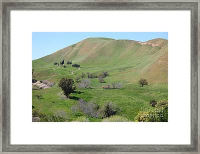 Old Rose Hill Cemetery Atop The Rolling Hills Landscape Of The Black Diamond Mines California 5d2231 Framed Print by Wingsdomain Art and Photography