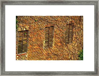 Old Roswell Manufacturing Mill Framed Print