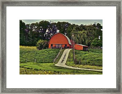 Old Round Top Framed Print