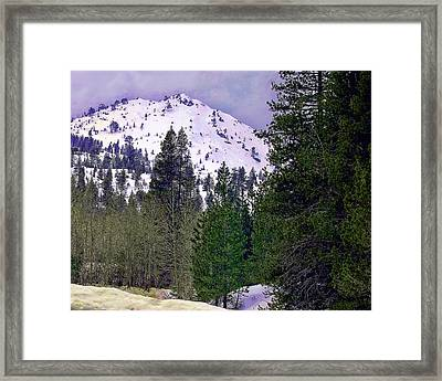 Old Route 40 Winter Framed Print
