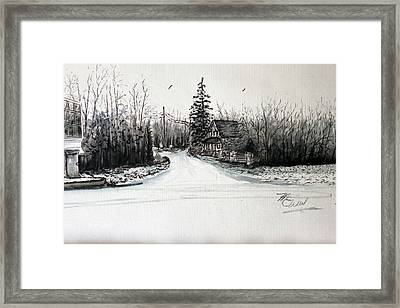 Old Route 9 Manahawkin Framed Print by Martin Way